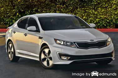 Insurance rates Kia Optima Hybrid in Lubbock