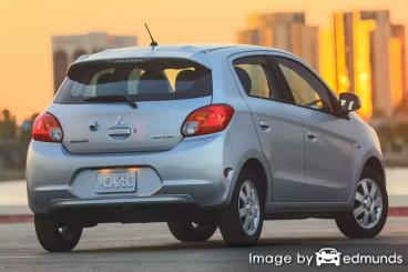Insurance rates Mitsubishi Mirage in Lubbock