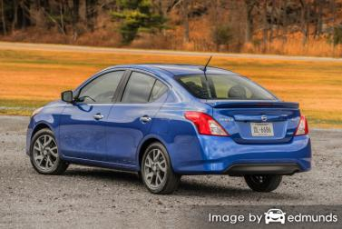 Insurance rates Nissan Versa in Lubbock
